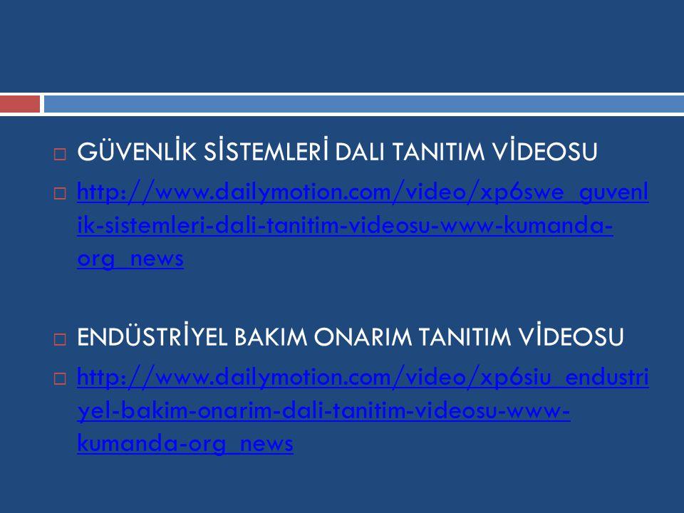 GÜVENLİK SİSTEMLERİ DALI TANITIM VİDEOSU