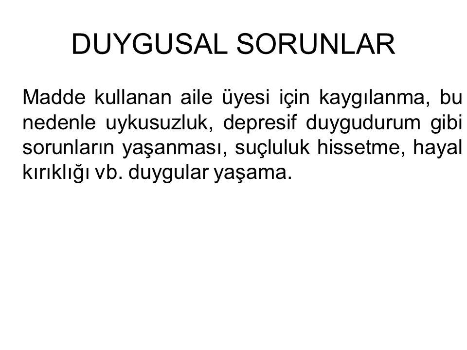 DUYGUSAL SORUNLAR