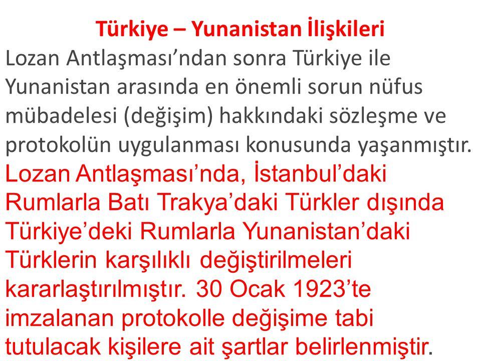 Türkiye – Yunanistan İlişkileri