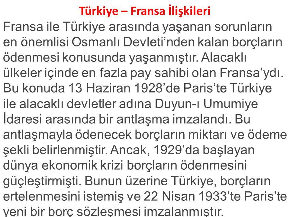 Türkiye – Fransa İlişkileri