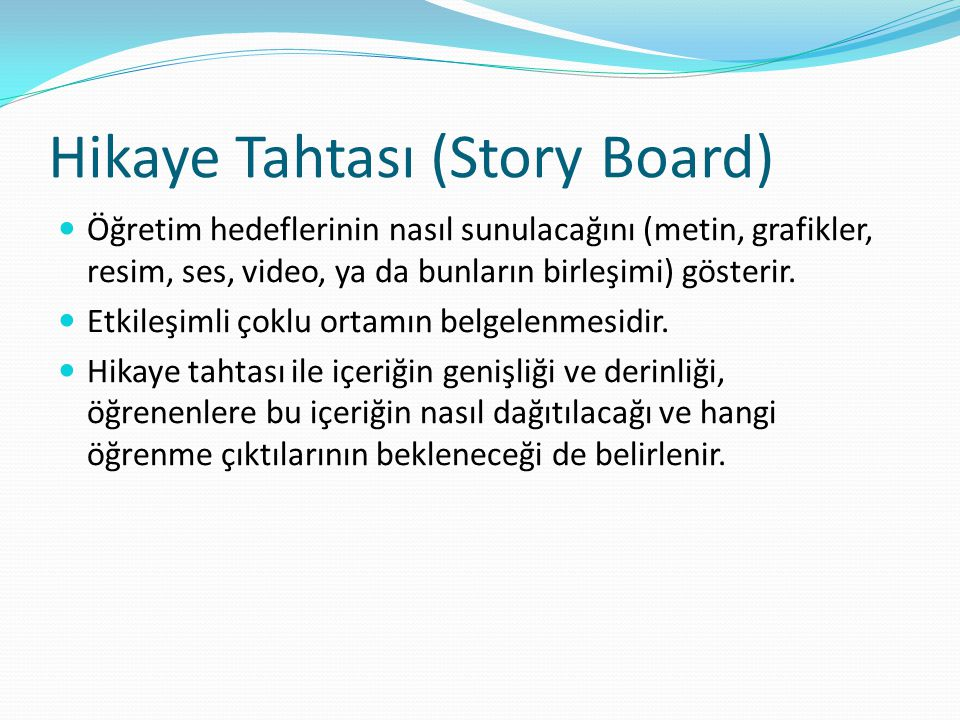 Hikaye Tahtası (Story Board)