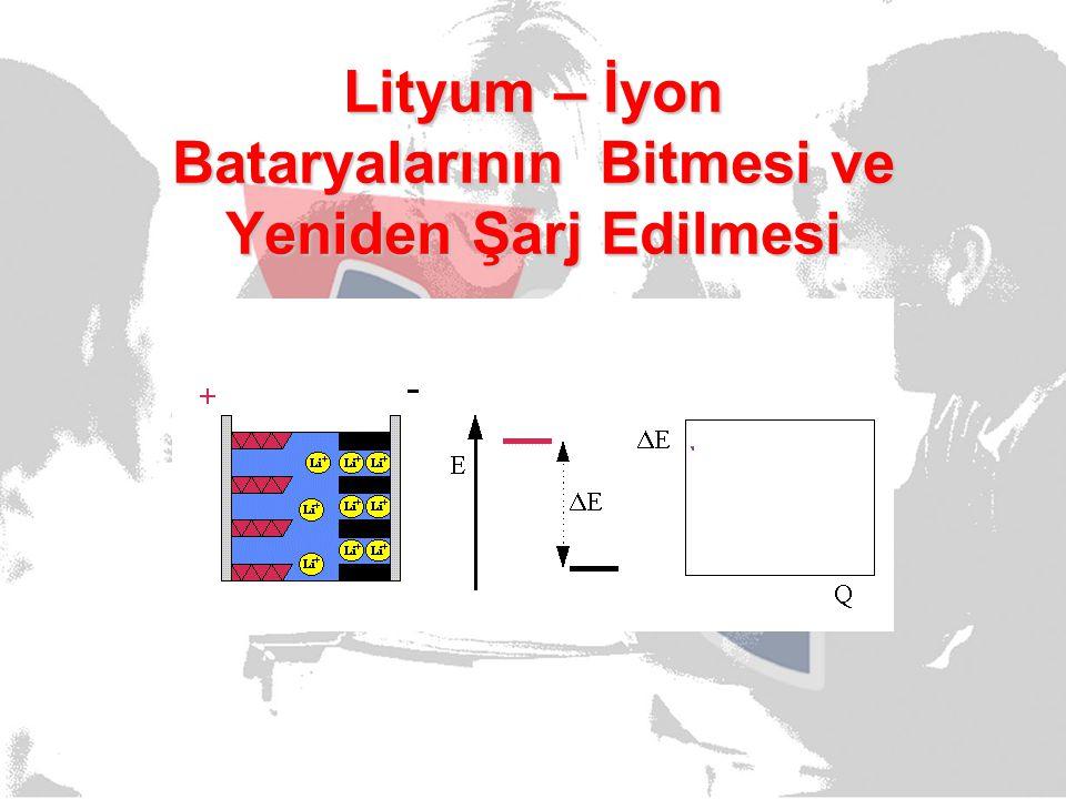 Lityum – İyon Bataryalarının Bitmesi ve Yeniden Şarj Edilmesi