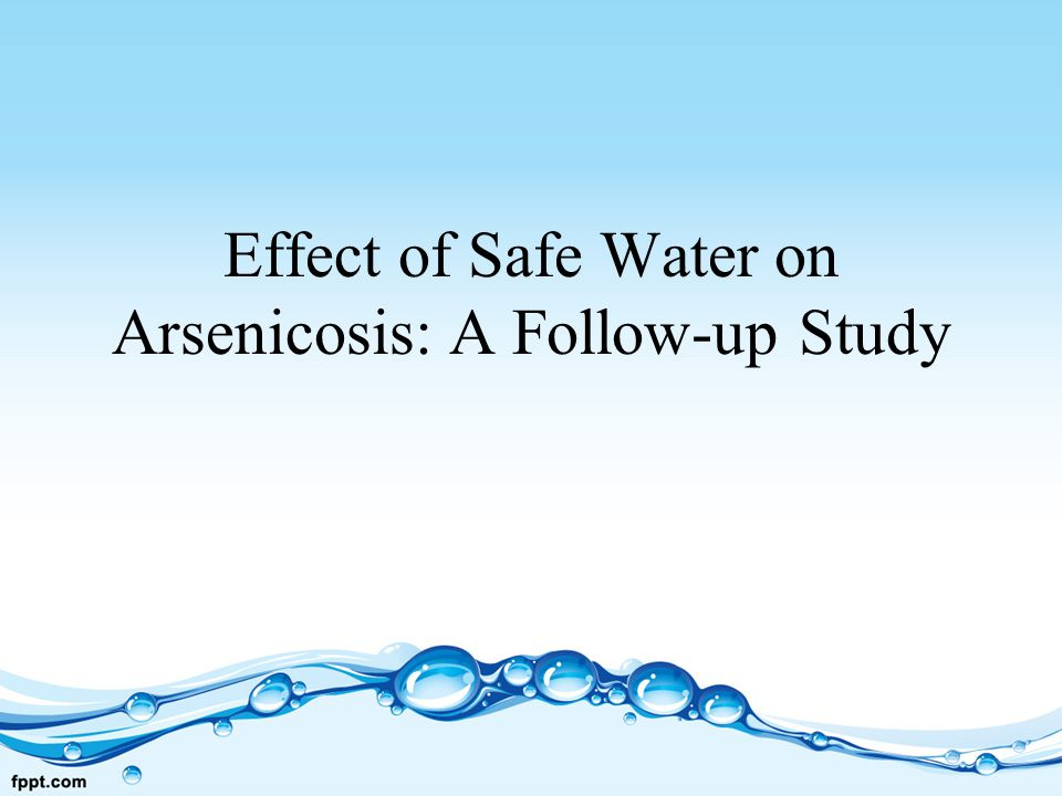 Effect of Safe Water on Arsenicosis: A Follow-up Study