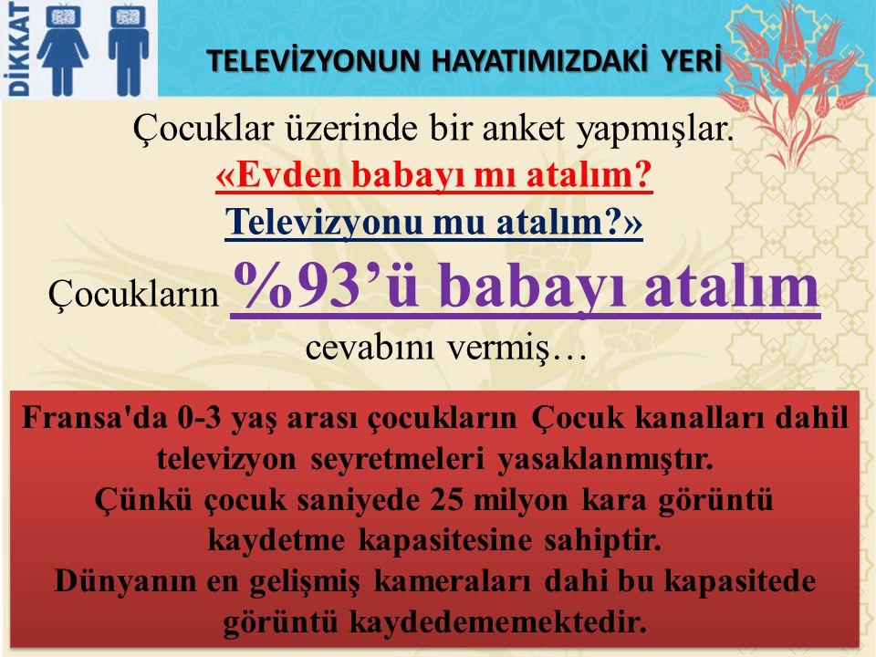 «Evden babayı mı atalım Televizyonu mu atalım »