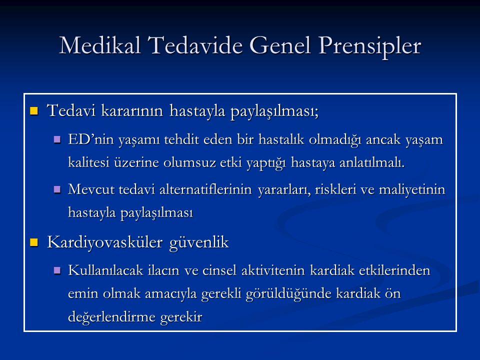 Medikal Tedavide Genel Prensipler