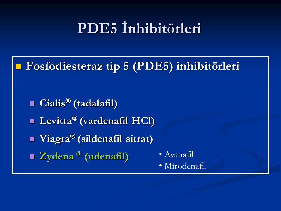 PDE5 İnhibitörleri Fosfodiesteraz tip 5 (PDE5) inhibitörleri