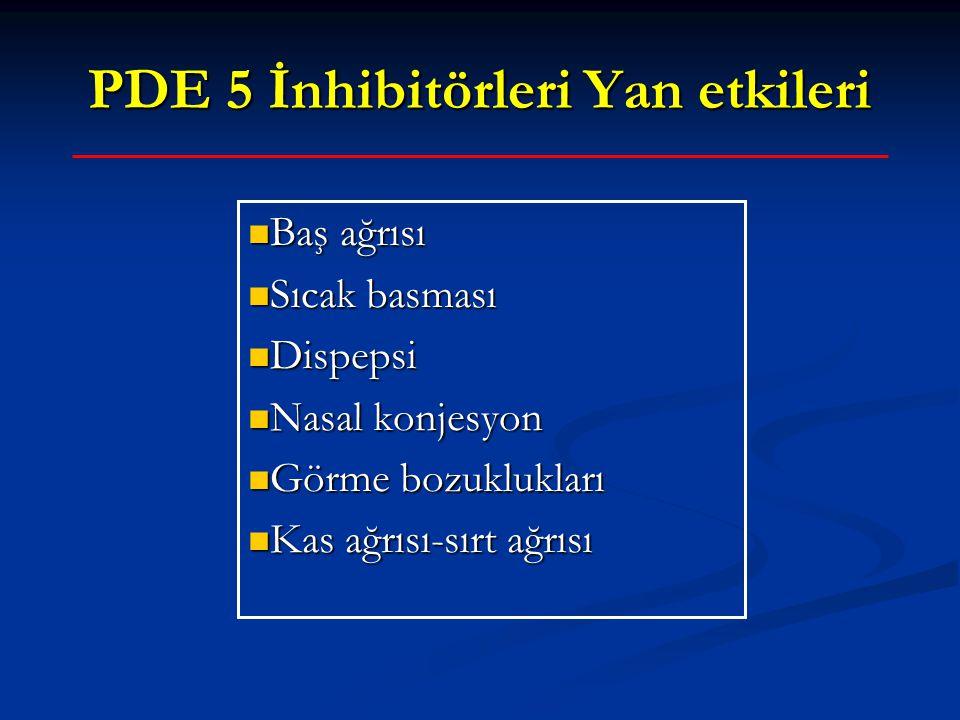 PDE 5 İnhibitörleri Yan etkileri