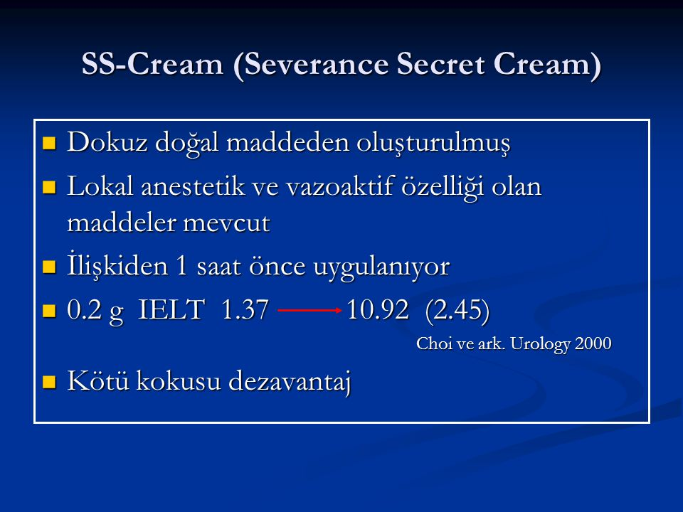 SS-Cream (Severance Secret Cream)