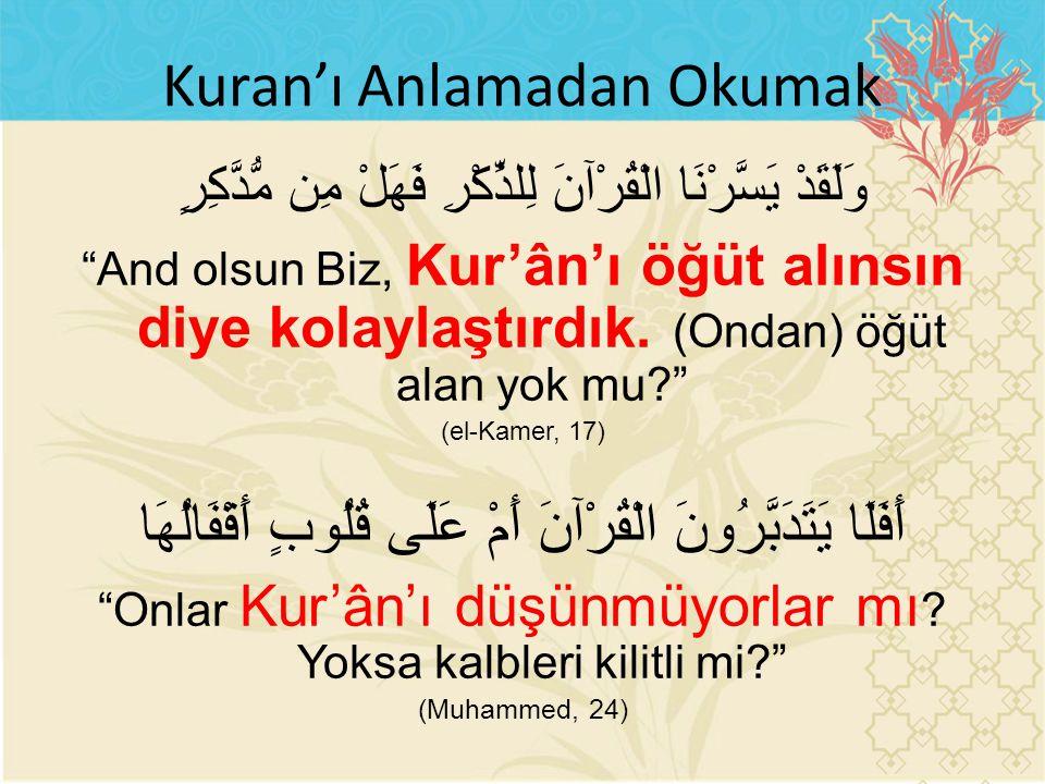 Kuran'ı Anlamadan Okumak