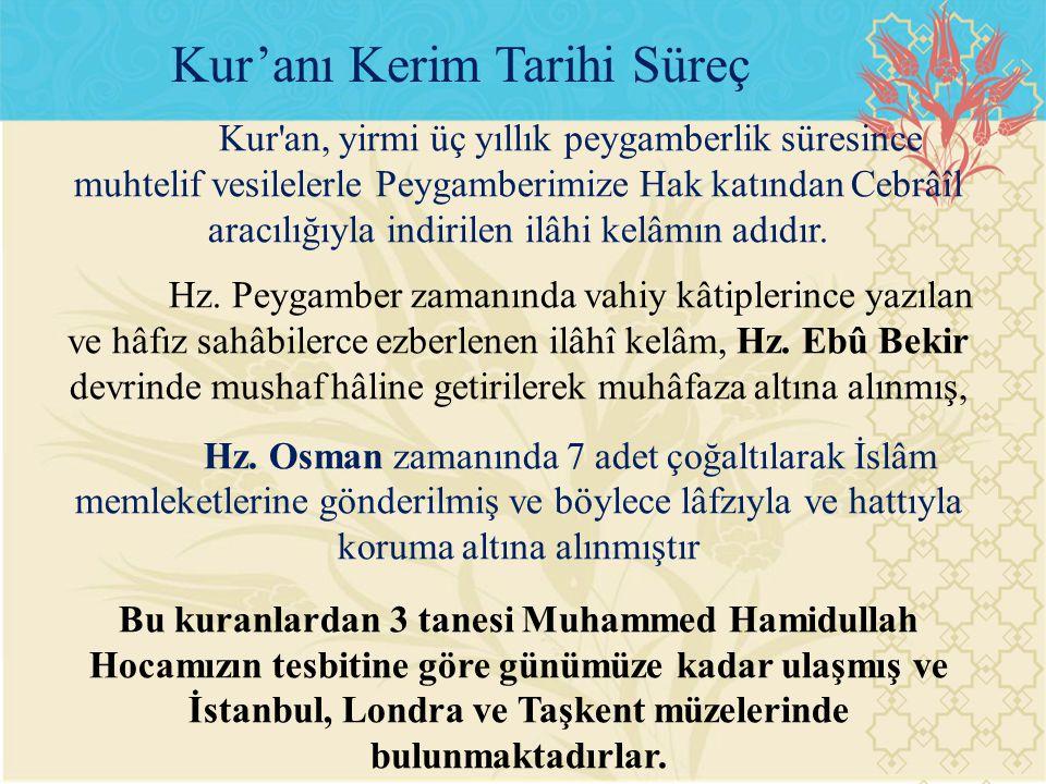 Kur'anı Kerim Tarihi Süreç