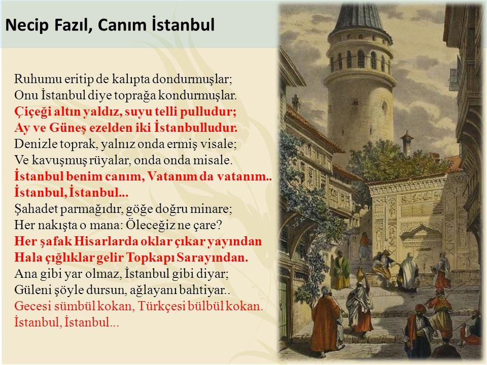 Necip Fazıl, Canım İstanbul
