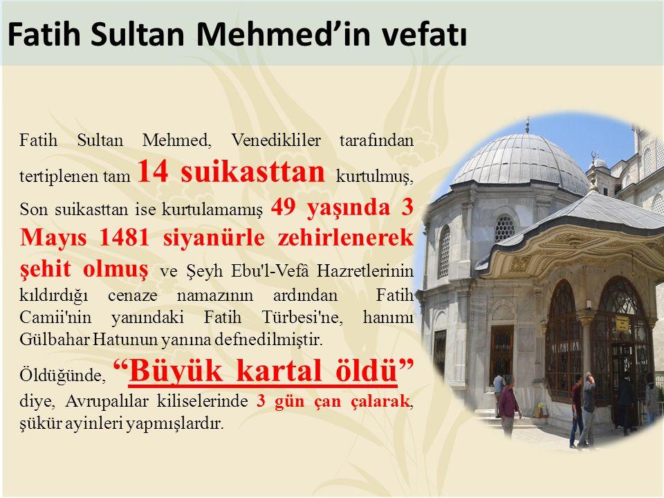 Fatih Sultan Mehmed'in vefatı
