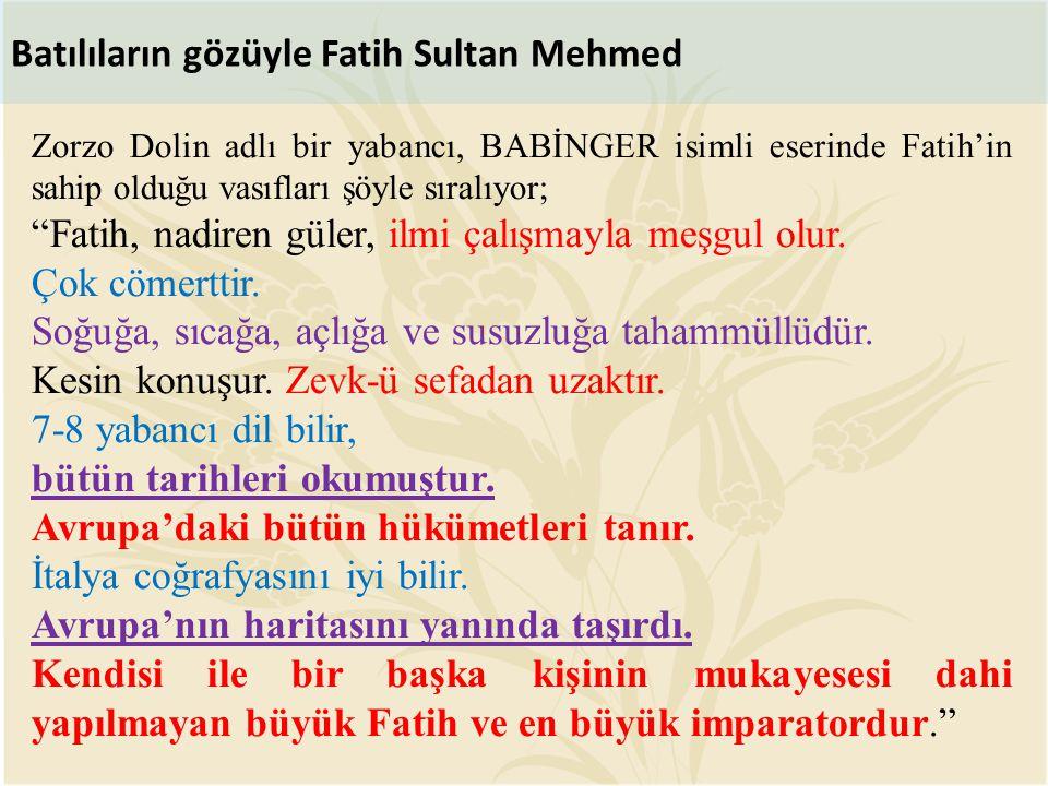 Batılıların gözüyle Fatih Sultan Mehmed