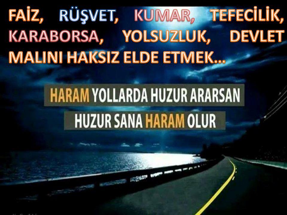DERDİMİZ NASIL HELAL KAZANIRIM