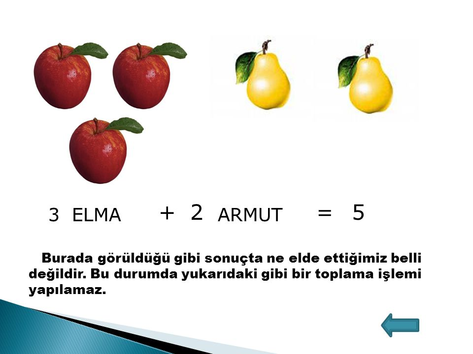 + 2. = 5. 3. ELMA. ARMUT.