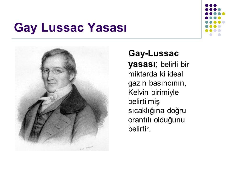 Gay Lussac Yasası