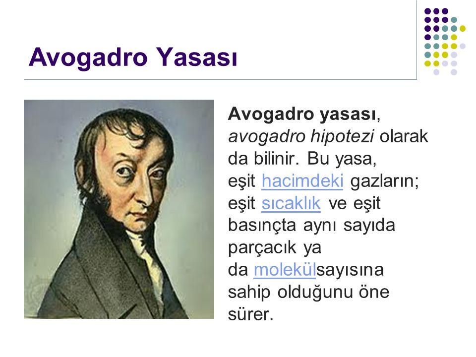 Avogadro Yasası