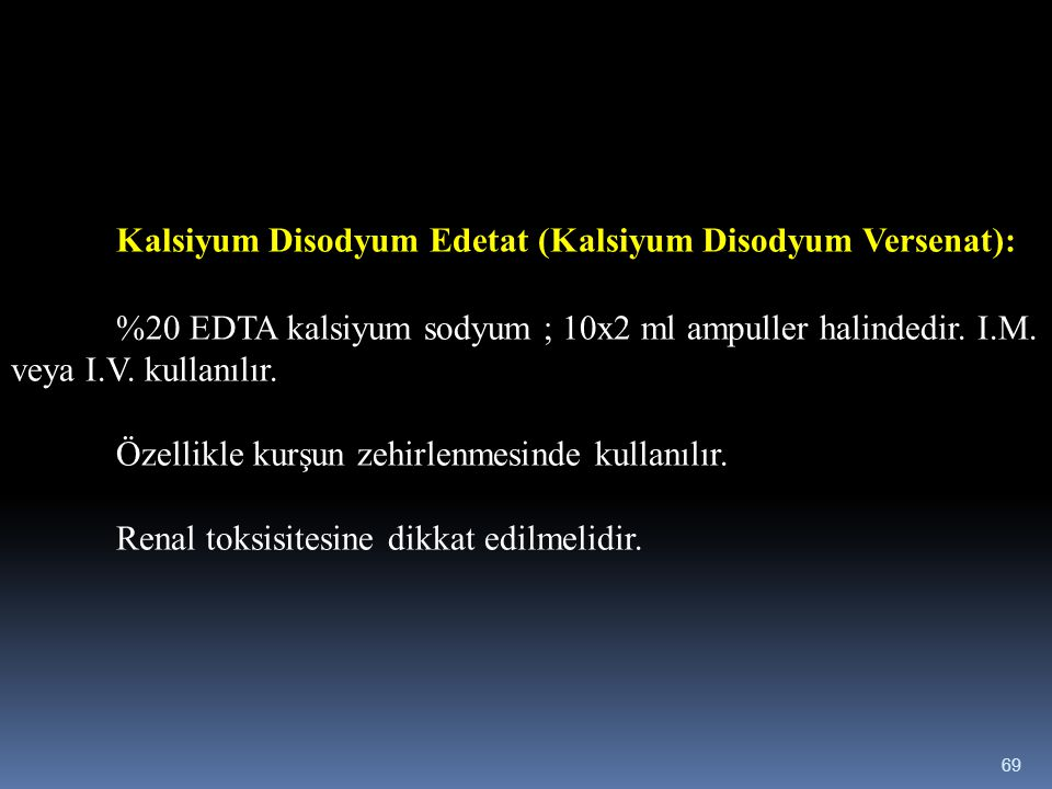 Kalsiyum Disodyum Edetat (Kalsiyum Disodyum Versenat):