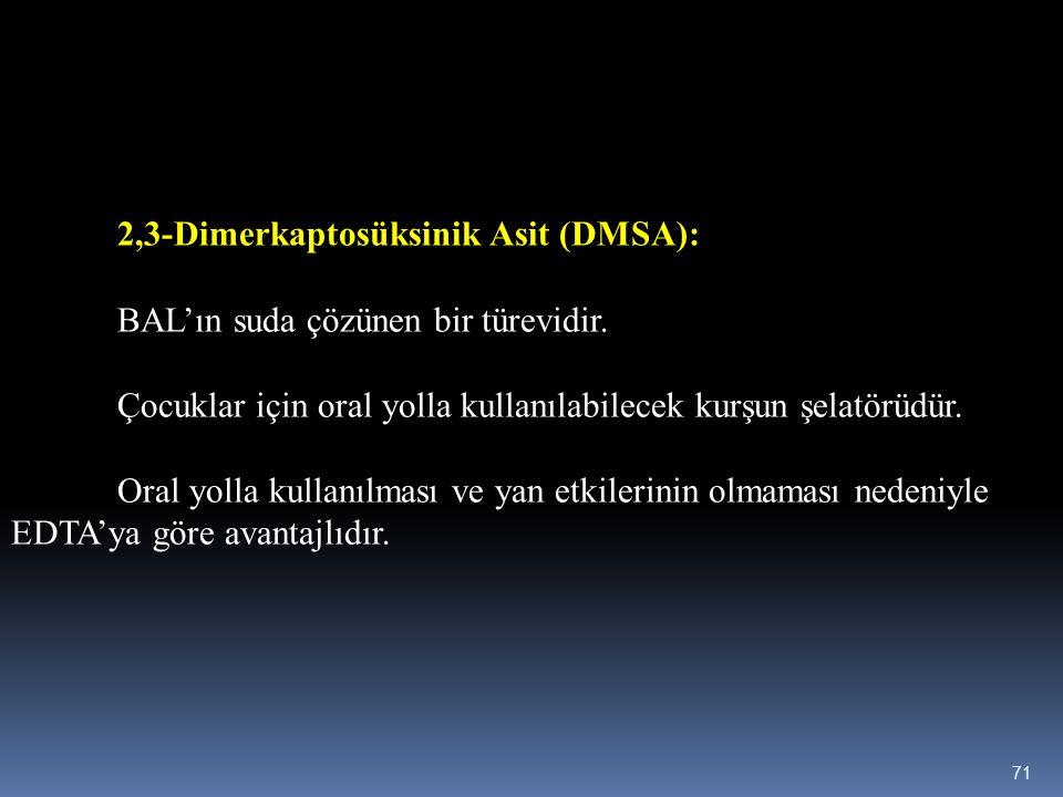 2,3-Dimerkaptosüksinik Asit (DMSA):