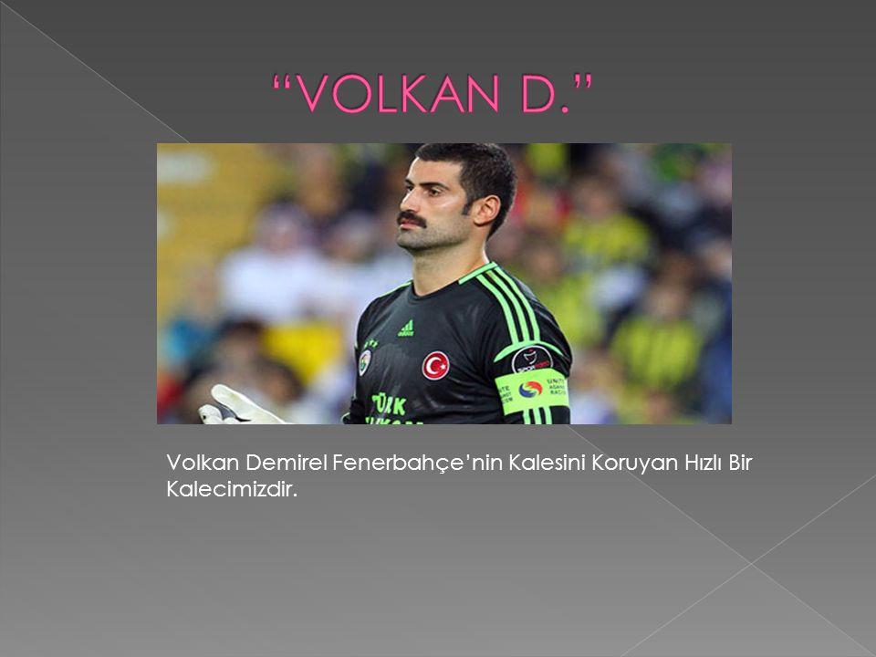 VOLKAN D. Volkan Demirel Fenerbahçe'nin Kalesini Koruyan Hızlı Bir Kalecimizdir.