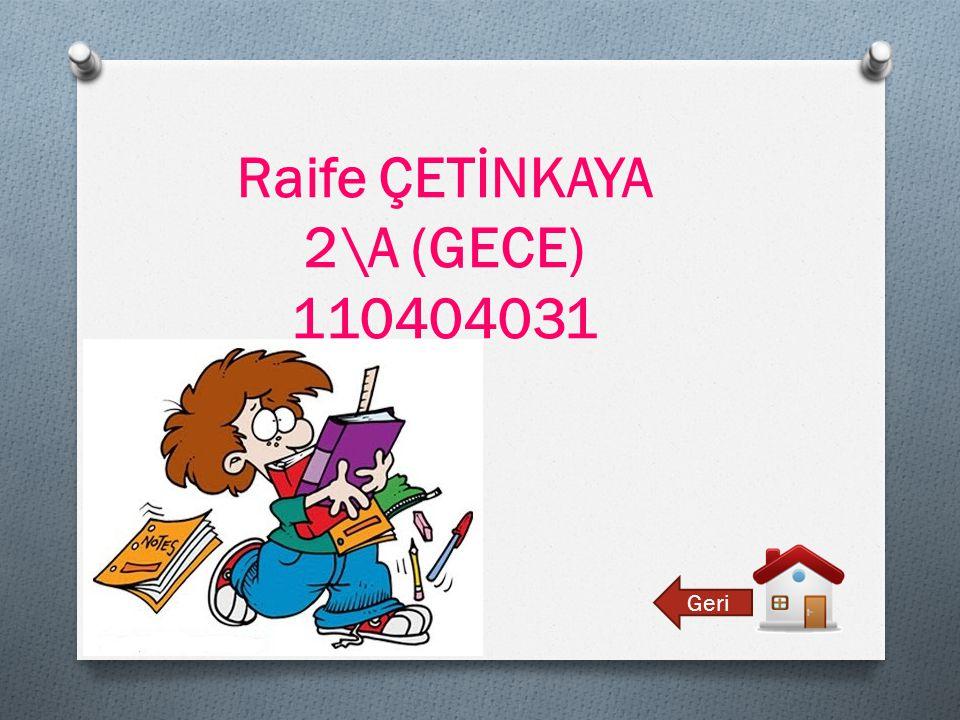 Raife ÇETİNKAYA 2\A (GECE) 110404031