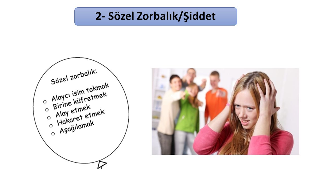 2- Sözel Zorbalık/Şiddet