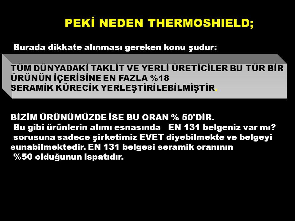 PEKİ NEDEN THERMOSHIELD;