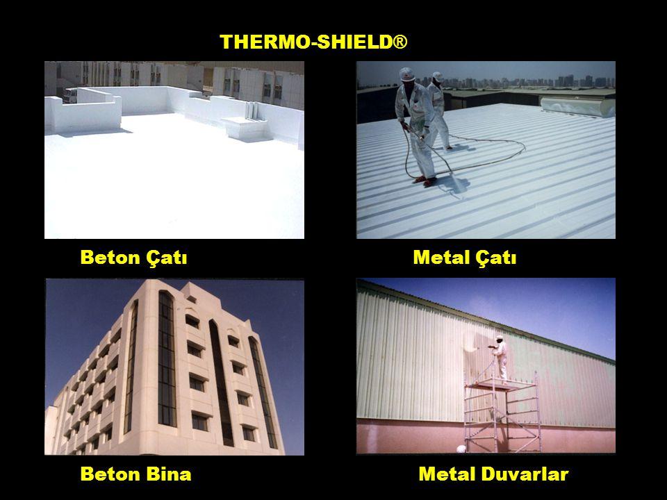 THERMO-SHIELD® Beton Çatı Metal Çatı Beton Bina Metal Duvarlar