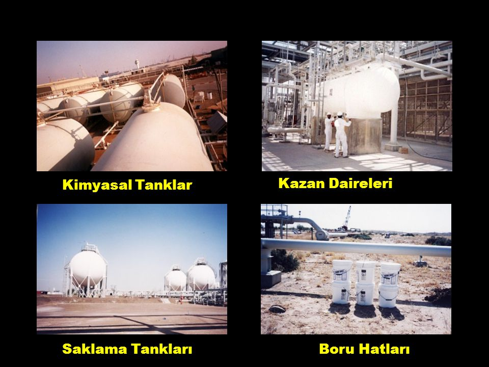 Kimyasal Tanklar Kazan Daireleri Saklama Tankları Boru Hatları