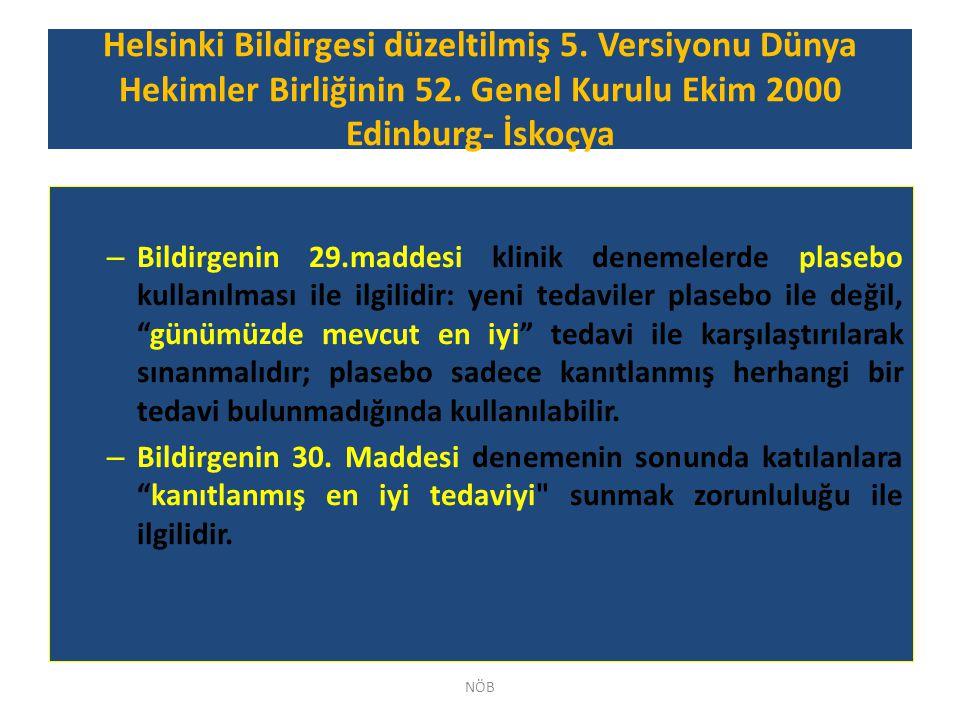 Helsinki Bildirgesi düzeltilmiş 5