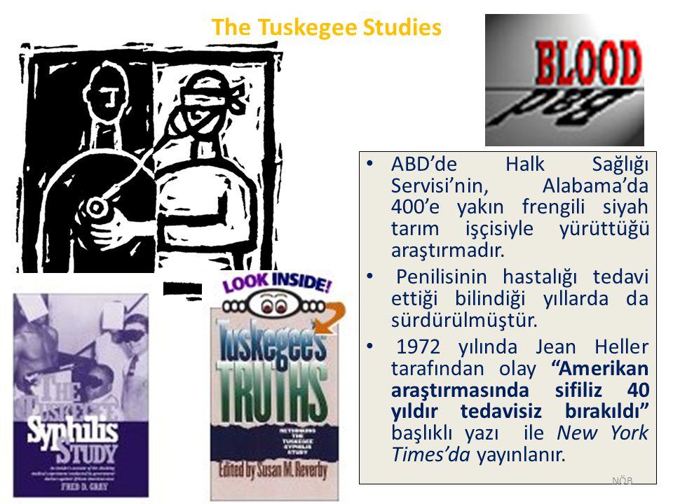 The Tuskegee Studies ABD'de Halk Sağlığı Servisi'nin, Alabama'da 400'e yakın frengili siyah tarım işçisiyle yürüttüğü araştırmadır.