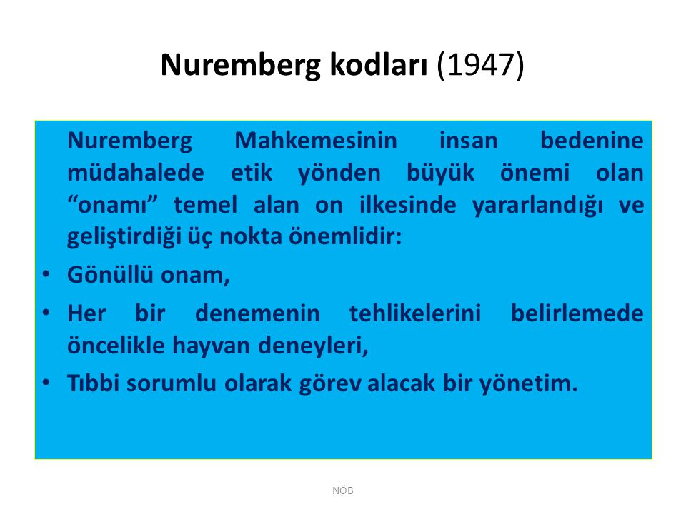 Nuremberg kodları (1947)