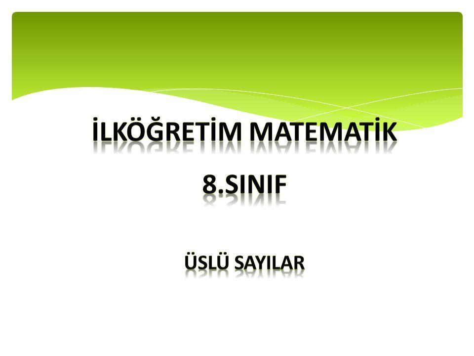 İLKÖĞRETİM MATEMATİK 8.SINIF