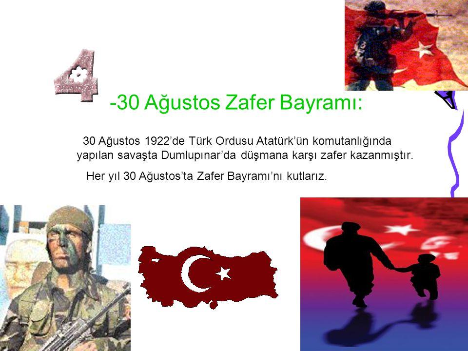 -30 Ağustos Zafer Bayramı: