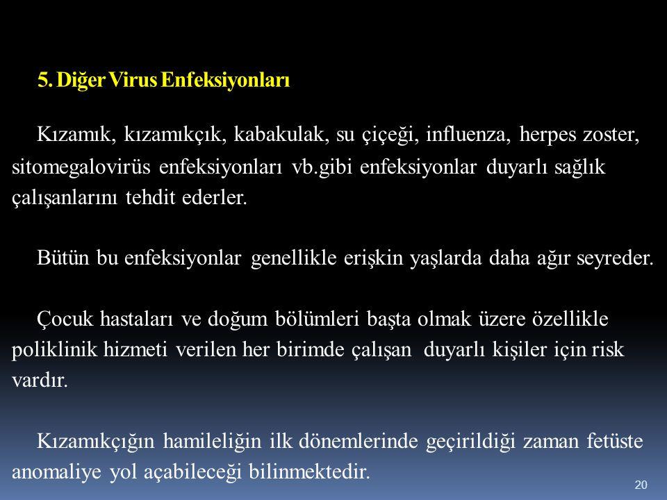 5. Diğer Virus Enfeksiyonları