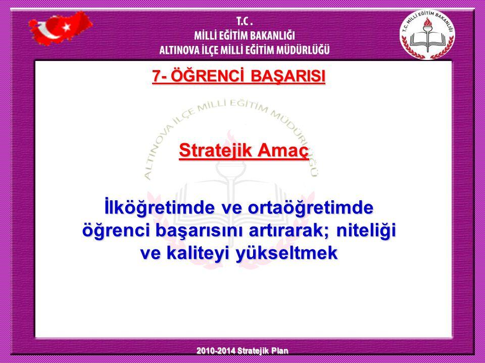 7- ÖĞRENCİ BAŞARISI Stratejik Amaç.