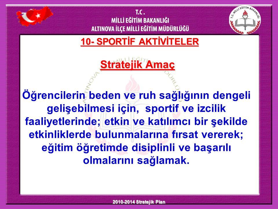 10- SPORTİF AKTİVİTELER Stratejik Amaç.