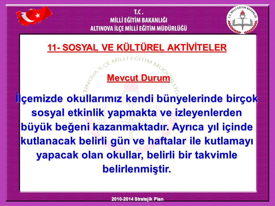 11- SOSYAL VE KÜLTÜREL AKTİVİTELER