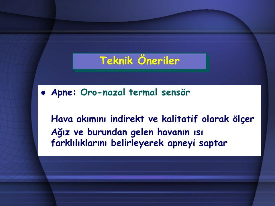 Teknik Öneriler Apne: Oro-nazal termal sensör