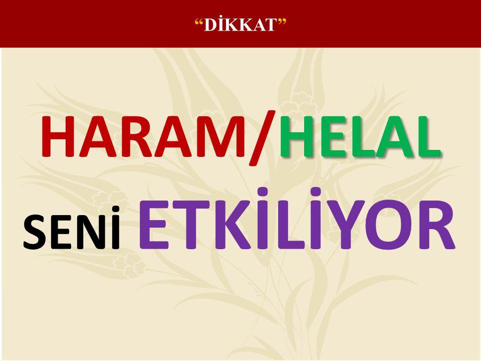 DİKKAT HARAM/HELAL SENİ ETKİLİYOR