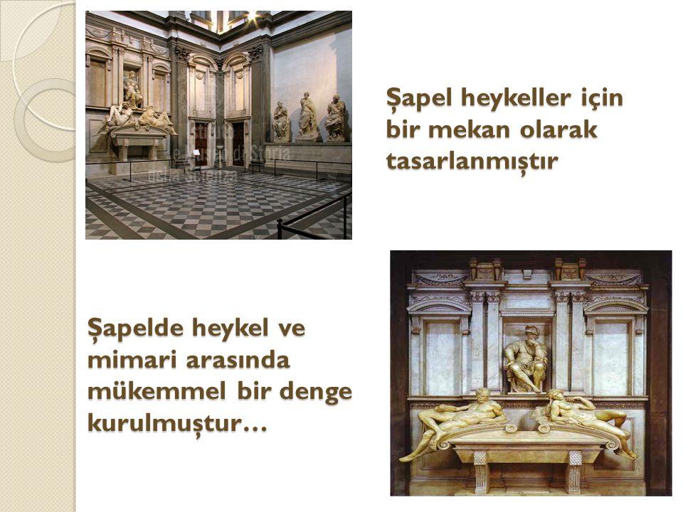 Şapel heykeller için bir mekan olarak tasarlanmıştır