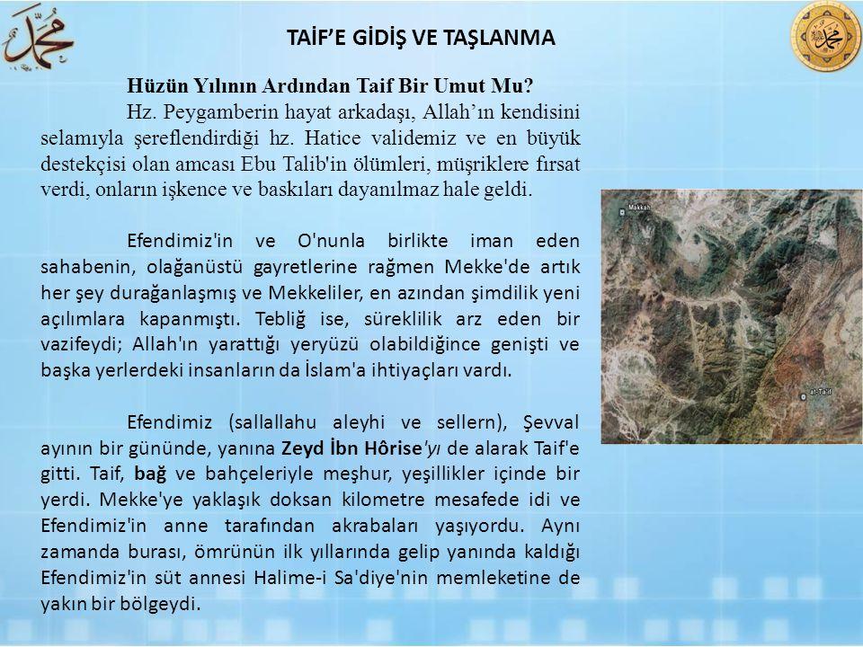 TAİF'E GİDİŞ VE TAŞLANMA
