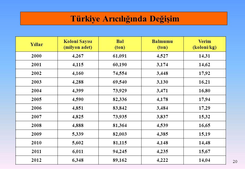 Türkiye Arıcılığında Değişim