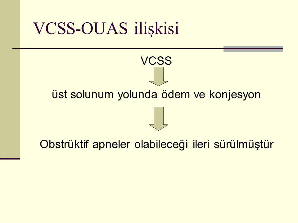 VCSS-OUAS ilişkisi VCSS üst solunum yolunda ödem ve konjesyon