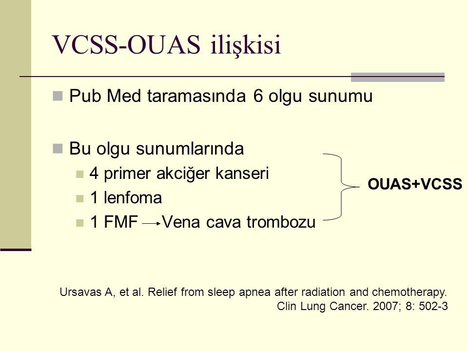 VCSS-OUAS ilişkisi Pub Med taramasında 6 olgu sunumu