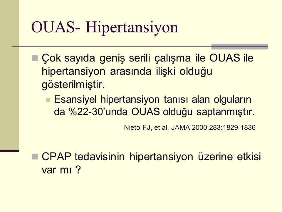 OUAS- Hipertansiyon Çok sayıda geniş serili çalışma ile OUAS ile hipertansiyon arasında ilişki olduğu gösterilmiştir.