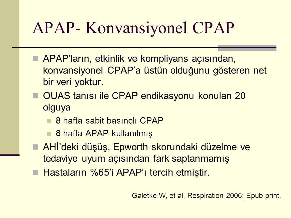 APAP- Konvansiyonel CPAP