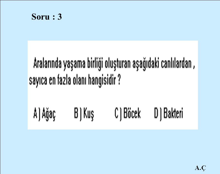 Soru : 3 A.Ç