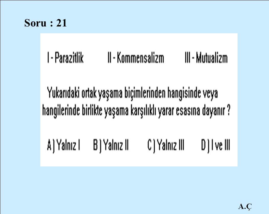 Soru : 21 A.Ç