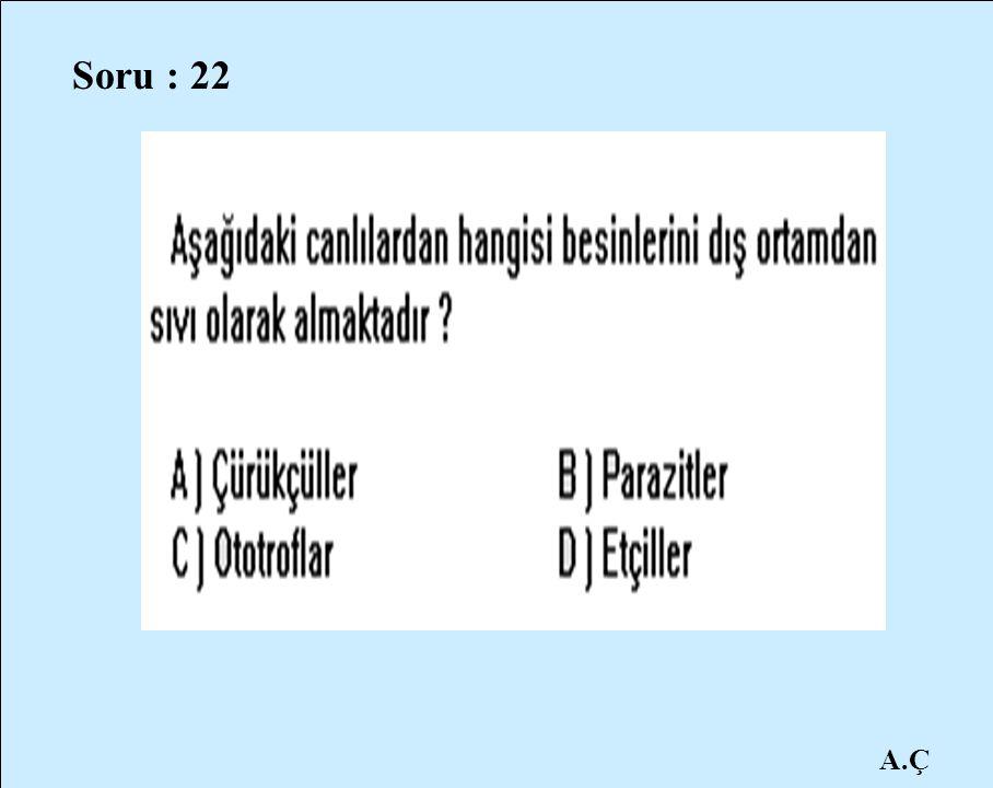 Soru : 22 A.Ç